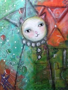 Kitty Party - Art by Kim Wilkowich