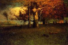George Inness, Early Autumn, Montclair, 1891. With thanks to apoetreflects.