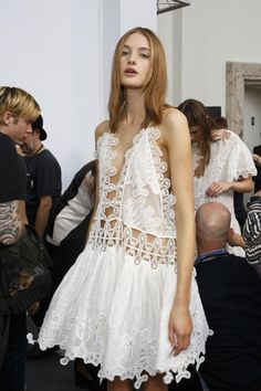 mulberry-cookies:  Backstage @ Chloé Spring/Summer 2015