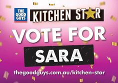 """Voting has opened for @thegoodguysau Kitchen Star Comp  Win $20k   Click my profile link  Vote for """"Sara""""  and you are in the running to win $20k Plus make me a very happy girl   This weeks recipe is BBQ Smoked Pork Belly"""