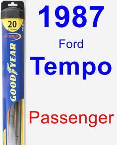Passenger Wiper Blade for 1987 Ford Tempo - Hybrid