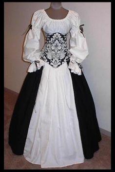 Dutchess Onyx Set - renaissance clothing, medieval, costume