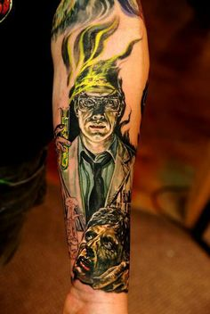 A Classic horror movie an a very sweet Re-Animator tattoo love this
