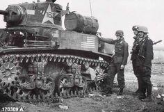 knocked out Stuart tank in Tunisia