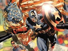 """""""Captain America is not here to lead the country. I'm here to serve it. If I'm a captain, then I'm a soldier. Not of any military branch, but of the American people. Years ago, in simpler times, this suit and this shield were created as a symbol to help make America the land it's supposed to be... to help it realize its destiny."""" -- Captain America, vol. #4, #7"""