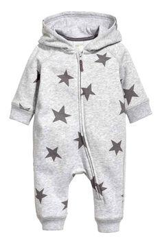 Sweatshirt all-in-one suit - Grey - Kids | H&M GB 1