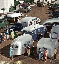 Vintage Trailers | Old-timey trailer gathering