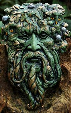 gort the ivy green man is a magical sculpture hand made in wales by kathleen minton, he is the protector of the ancient land of albion, trees and forests Celtic Green, Tree Faces, Wood Sculpture, Metal Sculptures, Abstract Sculpture, Bronze Sculpture, Man Images, Celtic Art, Woodland Creatures
