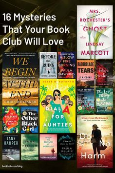 Looking for a new mystery novel or book club pick? We've curated 16 mysteries with fascinating theme, characters, and twists, that will be sure to keep your book club discussion lively! #books #bookclub #mysterybooks Mystery Novels, Mystery Thriller, Thriller Books, Historical Fiction, Book Club Books, Great Books, Twists, Bestselling Author, Book Worms