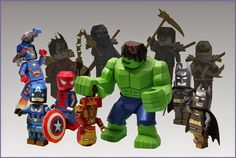 YOBEE'S LEGO MINI-FIGURE PAPER CRAFT: Download Line-up of Lego Paper Craft