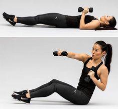 4 øvelser med håndvægte, der giver sixpack - ALT.dk