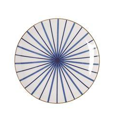 Bord Lines blue 22cm - Riverdale Webshop