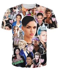 Check out this sexy, all-over-print Ruby Rose Paparazzi T-Shirt! Featured on this vibrant tee is the model, VJ, and actress, Ruby Rose who now known for her rol