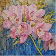 Cosmic Orchid, watercolour by Amanda Spencer