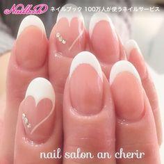 Trendy Wedding Nails For Bride Gel Valentines Day – Fancy Nails Wedding Nails For Bride, Bride Nails, Prom Nails, Fingernail Designs, Nail Polish Designs, Nail Art Designs, Love Nails, Pretty Nails, My Nails