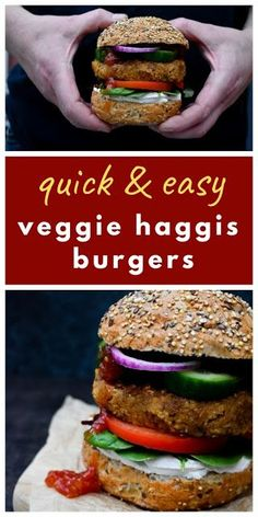 Instant Vegan Haggis, Neeps & Tatties Burgers for Burns Night. These easy burgers are so quick and so popular with adults and kids. A modern Scottish recipe. Vegan Dinner Recipes, Vegetarian Recipes, Cocktail Recipes, Burger Recipes, Easy Cooking, Cooking Recipes, Easy Recipes, Kitchen Recipes, Delicious Recipes