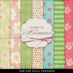 New Freebies Papers Kit - Midsummer