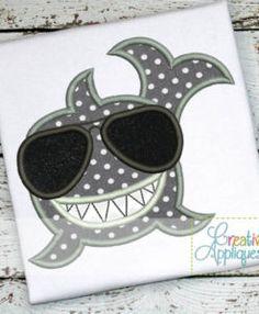 Shark-glasses-Sunglasses-smiling-happy-embroidery-applique-design