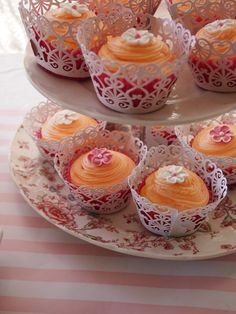 Grand Marnier cupcakes with orange buttercream