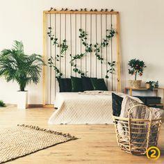 Bedroom Plants, Bedroom Wall, Bedroom Decor, Vinyl Rug, Natural Bedroom, Bedroom Simple, Lampe Decoration, Indoor Hammock, Tin Tiles