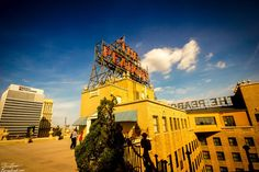 The Peabody Hotel rooftop in Memphis, Tennessee