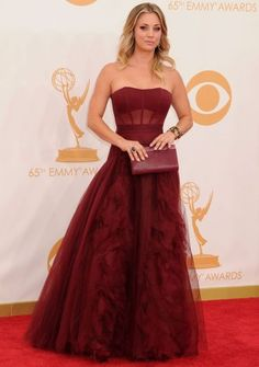 Emmy Red Carpet-2013.....I would want the sheer part (under the bust) to be solid. :)