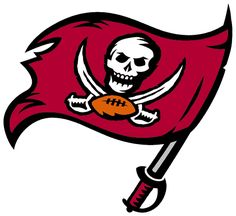 Tampa Bay Buccaneers Primary Logo on Chris Creamer's Sports Logos Page - SportsLogos. A virtual museum of sports logos, uniforms and historical items. Football Names, Nfl Football, Football Crafts, Football Fever, American Football, College Football, Tampa Bay Buccaneers, Buccaneers Football, 32 Nfl Teams