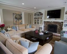 Traditional Family Room Couch Design, Pictures, Remodel, Decor and Ideas - page 23