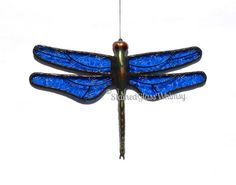 Stained Glass DRAGONFLY Suncatcher Sky by StainedGlassWhimsy