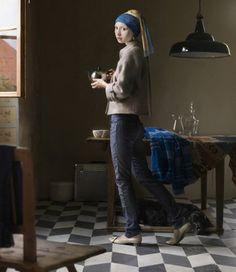 la jeune fille à la perle en jeans