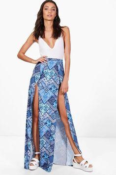 boohoo Tall Lily Split Maxi Skirt