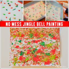 Mess Free Jingle Bell Painting For Babies, Toddlers, and Young Children