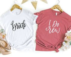 Wedding Gifts Team Bride Shirt, Bachelorette Party Shirts, Bridesmaid Proposal Gift – Details Matter Studio - Product Info Our exclusive hand lettered Bride Bachelorette Party Gifts, Bachelorette Shirts, Bachelorette Ideas, Bachelorette Weekend, Disney Bachelorette, Bridesmaid Shirts, Bridesmaid Proposal, Bridesmaid Ideas, Bridesmaid Hair