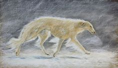 """~Whiteout~  (Borzoi)  On exhibit at Frost and Reed Gallery  """"Dogs in Art"""""""