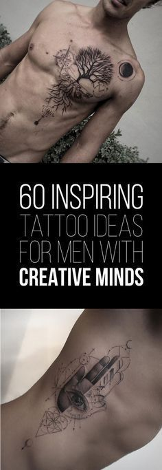 60 Inspiring Tattoo Ideas for Men with Creative Minds - TattooBlend - 60 Inspiring Tattoo Ideas for Men with Creative Minds Neue Tattoos, Body Art Tattoos, Sleeve Tattoos, Tricep Tattoos, Kurt Tattoo, Get A Tattoo, Diy Tattoo, Tattoo Hip, Chest Tattoo