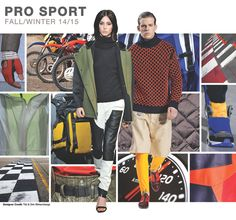 PRO SPORT      A continuation of athletic reference surfaces with Pro-Sport, powered by technical fabric advancements, motocross inspirat...