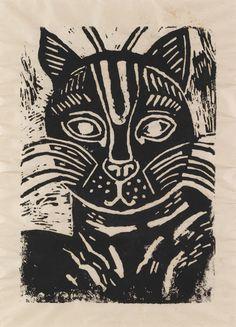 Edward Bawden (1903 – 1989) | cat linocut | via ART & ARTISTS: Edward Bawden - part 1