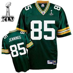 ... 85 Greg Jennings Green Green Bay Packers Embroidered Super Bowl XLV  Jersey ID922604804 ... 77ee12b51