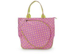 All for Color Citrus Dot Tennis Tote by All For Color. $53.99. From the Manufacturer                Hit the courts in style with the new Tennis Tote. This bag features a great spacious design with loads of functionality.                                    Product Description                Featuring a fashionable design the All For Color Citrus Dot Tennis Tote holds up to 2 racquets with a large exterior pocket Spacious interior compartment holds gear accessori...