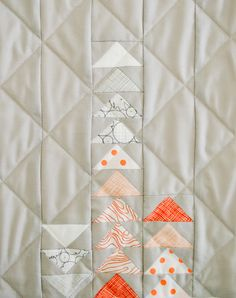 Mollys Sketchbook: Simple Four SquareQuilt - Purl Soho - Knitting Crochet Sewing Embroidery Crafts Patterns and Ideas!
