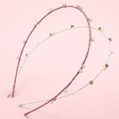 LC Lauren Conrad Runway Collection 2-pk. Beaded Wrapped Skinny Headband Set