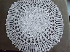 Resultado de imagem para guardanapo de croche redondo
