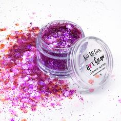 Translucent hot pink chunky cosmetic glitter by Kiss My Fairy.