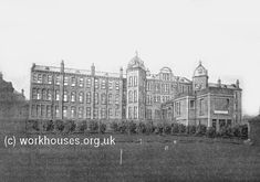 Bradford 1904 infirmary block from the east, c.1905.