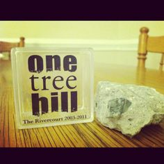 Piece of the Rivercourt from the amazing TV show, One Tree Hill, that I now own. :D