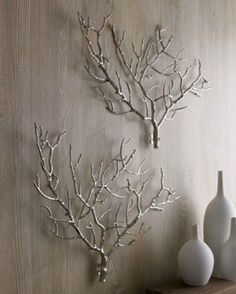 Spray bare branches for a rustic DIY