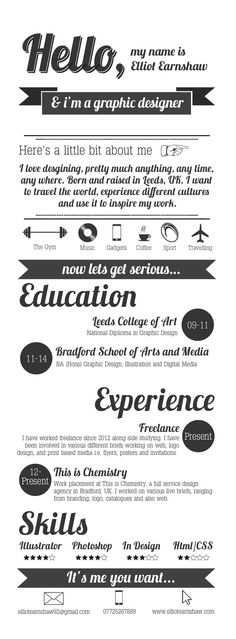 Standard Font Size For Resume Looking For A Graphic Design Job Check Out These 25 Examples Of .