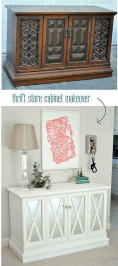 Thrift store cabinet makeover....