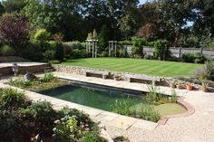 """It's so much nicer than a pool... we get real pleasure from seeing the plants mature, fill out and change shape and colour with the seasons."" Simon and Lesley Wood, Orpington, Kent, England"