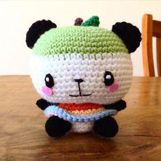Made a green pandapple. #編みぐるみ #かぎあみ #パンダ#りんご #サンリオ #かわいい #crocheter #crochet #crochetaddict #crochetsofinstagram #instacrochet #yarnaddict #kawaii #amigurumi #sanrio #ilovecrochet #hobby #diy #yarndoll #weamiguru #crafttherapy #cutetoy #haken by mabry0808